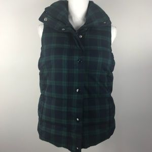 Old navy plaid puffer vest